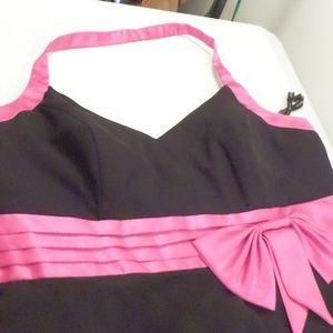 Alfred Angelo Black Fuchsia Short Formal Dress 16W